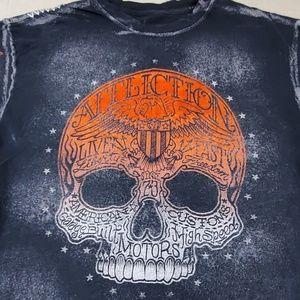 Affliction skull American custom tee shirt